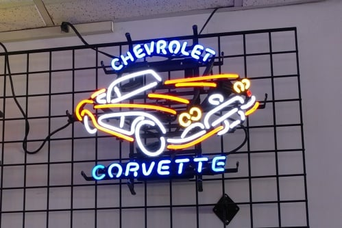 Corvette Neon Sign in Richmond VA